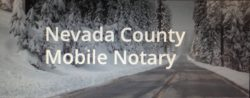 Nevada County Mobile Notary